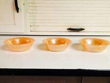 Fire King Laurel Peach Lustre Dessert Bowls