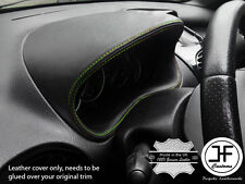 GREEN  STITCH GAUGE SPEEDO HOOD LEATHER COVER FITS PEUGEOT 206 206 CC 1998-2012