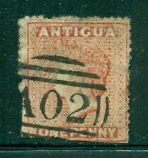 ANTIGUA 3 SG7 Used 1867 1p vermilion QVIC Wmk Star Cat$33