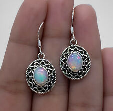 Ethiopian Opal Designer Gemstone Drop Dangle Earrings 925 Sterling Silver Gift