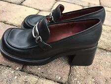 Nine West Loafer With Buckle And Chunky Heel, Size 7.5