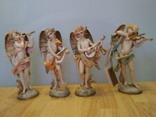 "Fontanini Depose Italy 6"" Set Musical Angels Playing Instruments Spider 271-274"