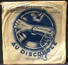 Pochette Cover Sleeve 78 trs Au Discobole Gare St Lazare Paris P.Yonnet EX