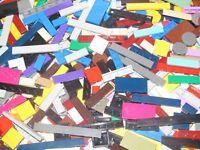 Lego ® Gros lot Vrac 100g Plaque Lisse Plate w Groove Mix Modèle & Couleur NEW