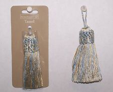 "3 Tassels Baby Blue / Yellow Color Rayon  3-1/4"" New Sewing Craft Supply"