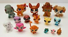 Hasbro Littlest Pet Shop LPD Lot of 16 Animal Figures Birds Monkeys Dog