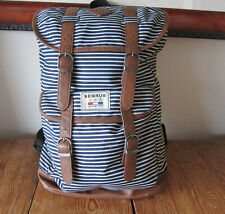 BENRUS Scout Backpack U.S. Military Navy Blue/White Striped, drawstring
