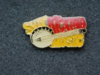 VINTAGE METAL PIN  SH*T KICKING MUSIC BANJO