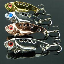 4pcs Metal Fishing Lures Bass CrankBait Spoon Crank Bait Tackle..# Pro