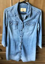 Levi Strauss Tunic Style Demin Shirt Size Small
