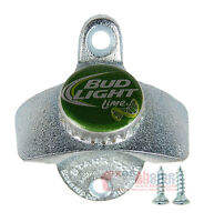 BUD LIGHT LIME Bottle Opener BEER CAP Budweiser Starr X Wall Mounted Cast Iron