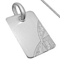 moderner Anhänger Silber Kette Gravur auch mit Sternzeichen Kettenanhänger Neu