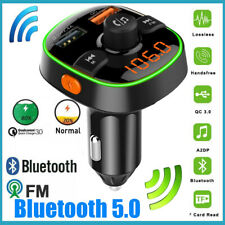 Car Music Player FM Transmitter Handsfree Charger Cigarette Lighter Bluetooth5.0