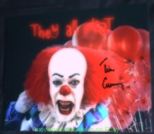 """PENNYWISE 8 by 10 Tim Curry Autographed PHOTO Signed On Stephen King """"IT"""" Image"""