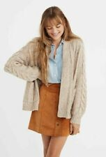NWT Madewell Bubble-Sleeve Cableknit Cardigan Sweater Size S