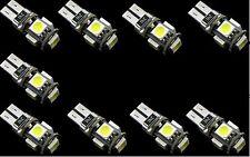9x Lampada luci posizione t10 hyper led 5 SMD CANBUS NO-ERROR bianca auto