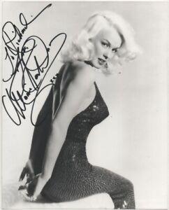 10 x 8   hand signed MAMIE VAN DOREN -BUSTY  - AFTAL COA  - dedicated