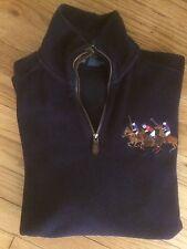 Polo Ralph Lauren Riders Jockey Club Polo Custom Fit Navy Half Zip Pullover Sz S