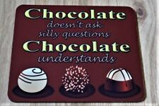Funny Chocolate lover's 5mm thick rectangle mouse mat gift work present idea