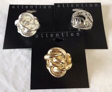 Attention Costume Fashion Statement Rings LOT of 3 Rings - NWT