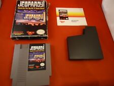 Jeopardy (Nintendo NES 1998) COMPLETE w/ *Damaged* Box, manual, game WORKS!