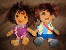 Doll Dora Explorer Purple Tanzania Girl & Diego Boy TY 2006 stuffed plush beanie