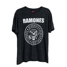 Ramones 2007 Band Tee Shirt Charcoal Grey Large Punk Rock Presidential Seal