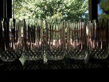 "Set (5) Ice Tea Tumblers Glasses 5-1/4"" Lead Crystal Longchamp Cristal D'Arques"