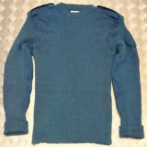 Brand New British Army RAF Round Neck Jumper Military Cadet Pullover Blue Wool
