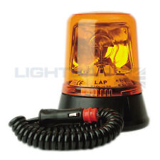 LAP 259 Magnetic Mount Tractor Emergency Rotating Flashing Amber Beacon R65