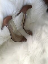 Nude Woman Leather Pump Size 8