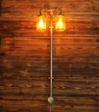 GILES plug in Wall Light. 20% VAT inc. Industrial Style 2 way Vintage CE MARKED