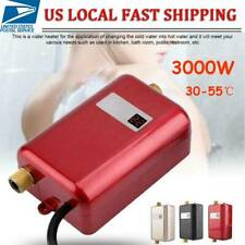 3000W Mini Instant Electric Tankless Hot Water Heater Shower Kitchen Bath 110V