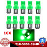 10Pcs T10 Car 5 LED 194 168 W5W Light Canbus Green 5050 SMD Wedge Bulb Tail Lamp