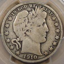 1910 Barber Half Dollar PCGS VG10