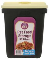 Pet Dry Food Container/Storage Box/Bucket Dog/Cat Large 36 Litres With Scoop