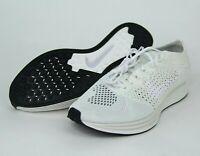 Nike Flyknit Racer Goddess Triple White Sail Pure Platinum 526628-100 SZ