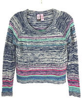 Love On A Hanger Anthropologie Acrylic Striped Sweater Juniors Womens M Medium