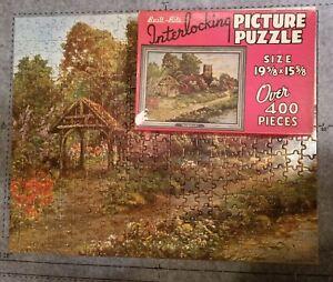 "Vintage Built-Rite Over 400 Pieces ""Tranquility""Picture Puzzle 100% Complete!"