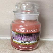 Lavender YANKEE CANDLE Small 3.7 oz Jar PINK WAX