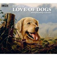 2019 Love of Dogs Wall Calendar, Dog Art by Lang Companies