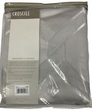 "Croscill ""Gwynn"" 54""x 78"" Geometrical Silver Shower Curtain Very Elegant New!"