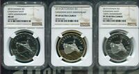 2010 CANADA $1 3 COIN SET - 100th ANNIVERSARY CANADIAN NAVY - NGC PF70/MS69/PF69