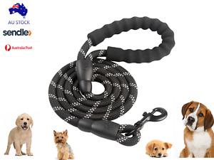 Nylon Dog Leash  for Small Medium and Large Dogs - Black Dog Lead
