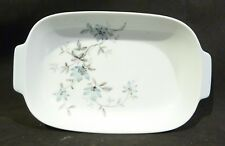 Noritake Oven dish/Snack Dish / Tray , Blue flowers 23 cm long