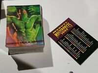 1993 MARVEL MASTERPIECES Series 2 - Complete 90 Card Set.