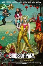 Birds of Prey Movie Poster 27 x 40 D/S Margot Robbie Harley Quinn  Mary Winstead