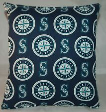 Mariners Pillow Seattle Mariners Pillow MLB Handmade in USA Pillow Baseball