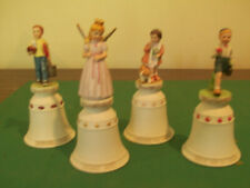 Norman Rockwell 4 Figurine Bells Collection by River Shore Ltd.