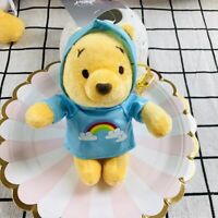 pooh bear raincoat plush doll toy bag pendant key chain keyring cute new